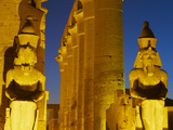Great Court of Ramesses Ii and Colossal Statues of Ramesses Ii  Temple of Luxor  Thebes  UNESCO Wor