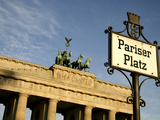 Brandenburg Gate at Pariser Platz  Berlin  Germany  Europe