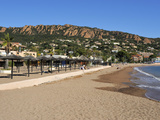 Beach with the Esterel Corniche Mountains in the Background  Agay  Provence  Cote D'Azur  France  M