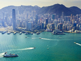 Cityscape of Central  Hong Kong's Main Financial District  Hong Kong Island  and Victoria Harbour
