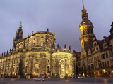 Hofkirche and Palace  Dresden  Saxony  Germany  Europe