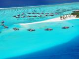 Aerial View of Resort  Maldives  Indian Ocean  Asia