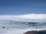 Winter Mist  Eden Valley  Lower Pennines  Cumbria  England  United Kingdom  Europe