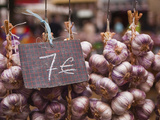 Garlic on Sale at a Market in Tours  Indre-Et-Loire  Centre  France  Europe