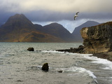 View to Cuillin Hills from Elgol Harbour  Isle of Skye  Inner Hebrides  Scotland  United Kingdom  E