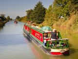 Canal Boats Idling their Way Down the Kennet and Avon Canal  Wiltshire  England  United Kingdom  Eu