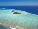 Aerial View of a Tropical Island  Maldives  Indian Ocean  Asia