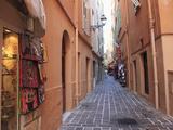 Street Scene  Le Rocher (The Rock)  Monaco  Cote D'Azur  Mediterranean  Europe