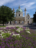 Karlsplatz and Karlskirche  Vienna  Austria  Europe