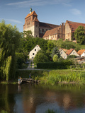 Romanesque St Mary Cathedral Dominates Town of Havelberg on the Havel River  Saxony-Anhalt  German