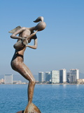 Mermaid Angel Playing Saxophone Sculpture on the Malecon  Puerto Vallarta  Jalisco  Mexico  North A