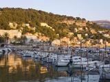 View across the Harbour at Sunset  Port De Soller  Mallorca  Balearic Islands  Spain  Mediterranean