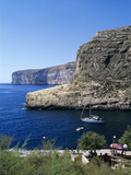 View Along Cliffs  Xlendi  Gozo  Malta  Mediterranean  Europe