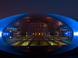 National Centre for the Performing Arts  Egg Shape Reflection  Illuminated During National Day Fest
