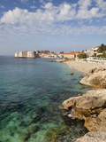 Old Town and Rocky Shoreline  Dubrovnik  Croatia  Europe
