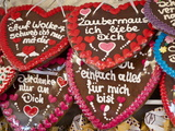 Decorative Gingerbread Cookies at the Stuttgart Beer Festival  Cannstatter Wasen  Stuttgart  Baden-