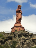 Statue of Notre-Dame-De-France  Le Puy En Velay  Haute-Loire  Massif Central  France  Europe