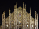 Duomo at Night  Milan  Lombardy  Italy  Europe