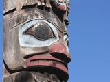 Totem Pole  Thunderbird Park  Victoria  Vancouver Island  British Columbia  Canada  North America