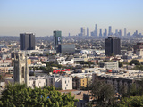 Hollywood and Downtown Skyline  Los Angeles  California  United States of America  North America