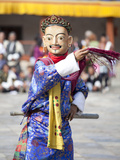 Monk Performing Traditional Masked Dance at the Wangdue Phodrang Tsechu  Wangdue Phodrang Dzong  Wa