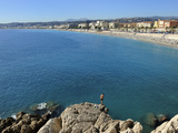 Beach and Promenade Des Anglais  Nice  Alpes Maritimes  Provence  Cote D'Azur  French Riviera  Fran