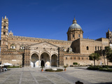 Exterior of the Norman Cattedrale (Cathedral)  Palermo  Sicily  Italy  Europe