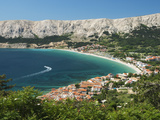 View over Bay  Baska  Krk Island  Kvarner Gulf  Croatia  Adriatic  Europe