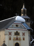 Alpine Church Near St Gervais  French Alps  France  Europe