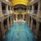 Indoor Baths at the Gellert Hotel  Budapest  Hungary  Europe