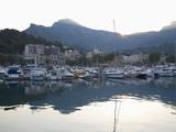 View across the Harbour at Sunrise  Port De Soller  Mallorca  Balearic Islands  Spain  Mediterranea