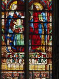 Stained Glass Window  Basilica Saint Nazaire  Carcassonne  UNESCO World Heritage Site  Aude  France