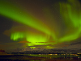 Aurora Borealis (Northern Lights) Seen over the Lyngen Alps  from Sjursnes  Ullsfjord  Troms  North