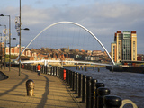 Millennium Bridge and the Baltic from the Quayside  Newcastle Upoon Tyne  Tyne and Wear  England  U