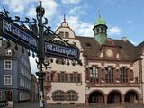 City Hall  Rathausplatz  Old Town  Freiburg  Baden-Wurttemberg  Germany  Europe