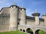 The Chateau Comtal Inside La Cite  Carcassonne  UNESCO World Heritage Site  Languedoc-Roussillon  F