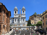 Trinita Dei Monti Church  Rome  Lazio  Italy  Europe