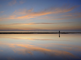 Dusk Reflections  Crosby Beach  Merseyside  England  United Kingdom  Europe