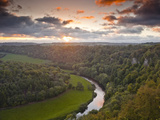 Looking Down on the River Wye from Symonds Yat Rock  Herefordshire  England  United Kingdom  Europe