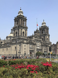 Metropolitan Cathedral  the Largest Church in Latin America  Zocalo  Plaza De La Constitucion  Mexi