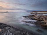 A Beautiful Moody Sunset over the Beach at Sanna Bay  Argyll and Bute  Scotland  United Kingdom  Eu