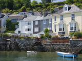 Houses on the Waters Edge in Fowey  Cornwall  England  United Kingdom  Europe