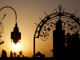 Minaret of the Koutoubia Mosque at Sunset  Marrakesh  Morocco  North Africa  Africa