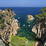 Secluded Cove  Aiguaxelida  Near Palafrugell  Costa Brava  Catalonia  Spain  Mediterranean  Europe