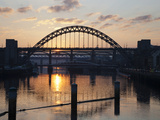 Tyne Bridge at Sunset  Spanning the River Tyne Between Newcastle and Gateshead  Tyne and Wear  Engl
