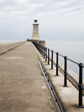 North Pier and Lighthouse  Tynemouth  North Tyneside  Tyne and Wear  England  United Kingdom  Europ