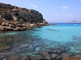 Reef and Sea  Cala Rossa  Favignana Island  Trapani  Sicily  Italy  Mediterranean  Europe