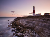 Portland Bill Lighthouse at Sunset  Dorset  England  United Kingdom  Europe