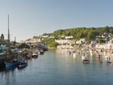 Morning Light on the River Looe at Looe in Cornwall  England  United Kingdom  Europe