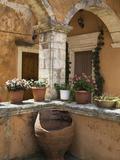 Detail from Inside Monastery  Agia Triada Monastery (Moni Zangarolo)  Akrotiri Peninsula  Chania Re
